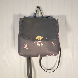 LC Lauren Conrad Blue Faux Leather Backpack